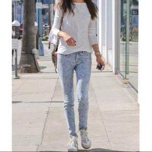 J brand Skinny Leg Vin Bandan Faded Paisley Jeans